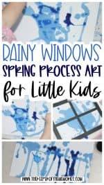 Rainy Windows Spring Process Art