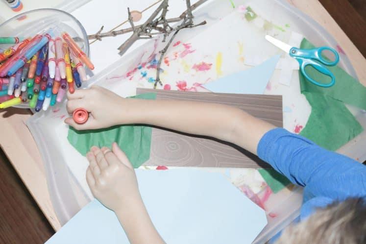 child's summer process art