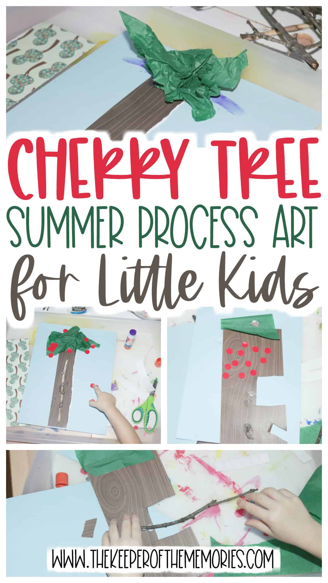 Cherry Tree Summer Process Art