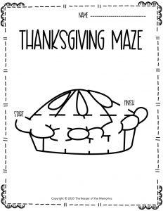 Thanksgiving Maze Pie