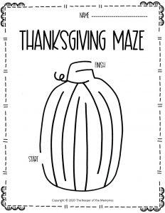 Thanksgiving Maze Pumpkin
