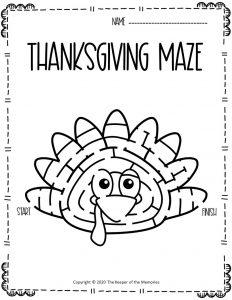 Thanksgiving Maze Turkey