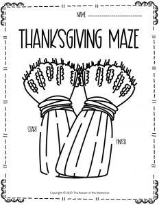 Thanksgiving Maze Wheat