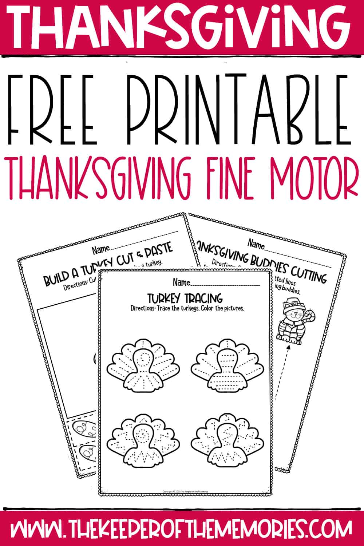 Free Thanksgiving Preschool Worksheets