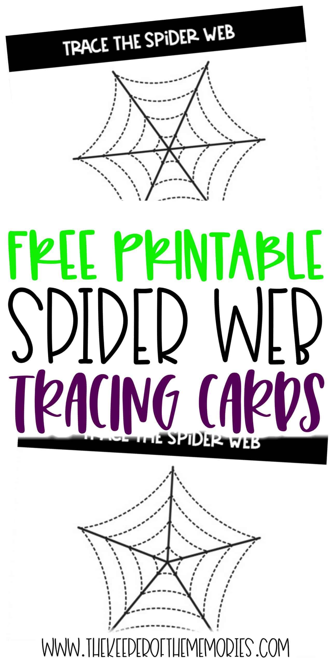 Tracing Spider Webs Halloween Printable Activities