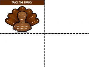 Tracing Turkeys Thanksgiving Preschool Printables 2