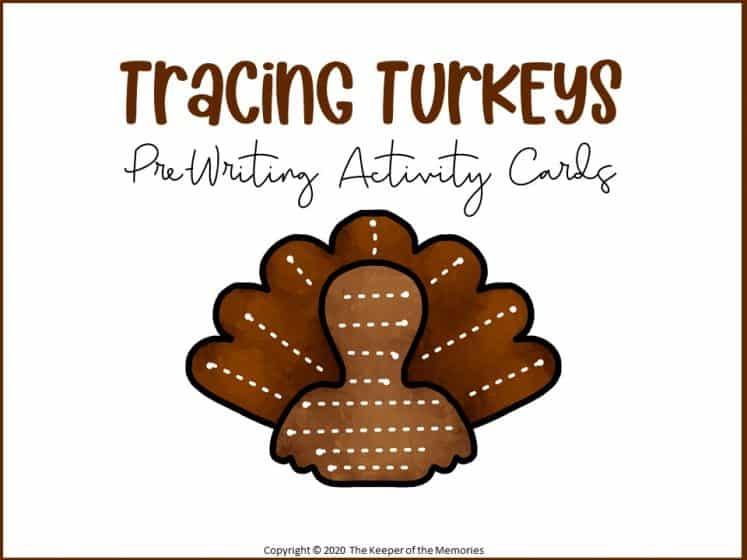 Tracing Turkeys Thanksgiving Preschool Printables