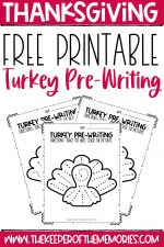 Free Printable Thanksgiving Worksheets Preschool Tracing Turkeys