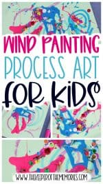 Wind Painting for Kids Process Art Activity