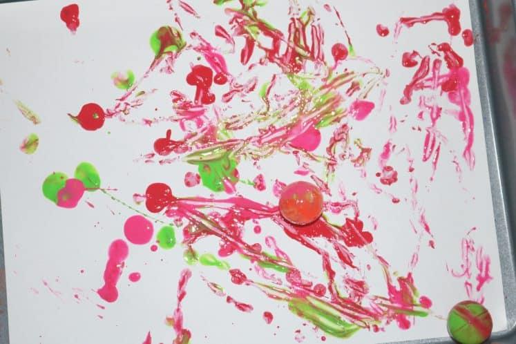 ball painting process art