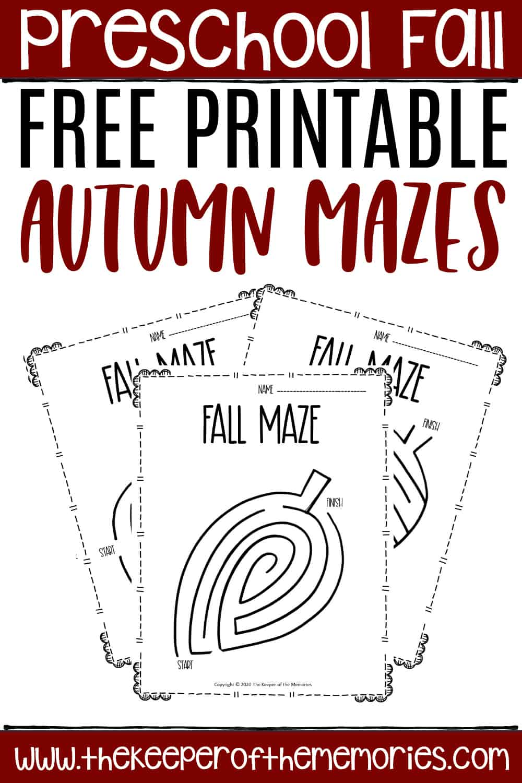 Free Printable Fall Mazes