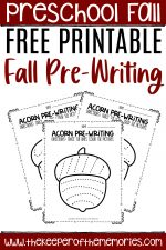 Free Printable Pre-Writing Fall Preschool Worksheets