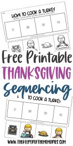 How to Cook a Turkey Thanksgiving Worksheets for Kindergarten