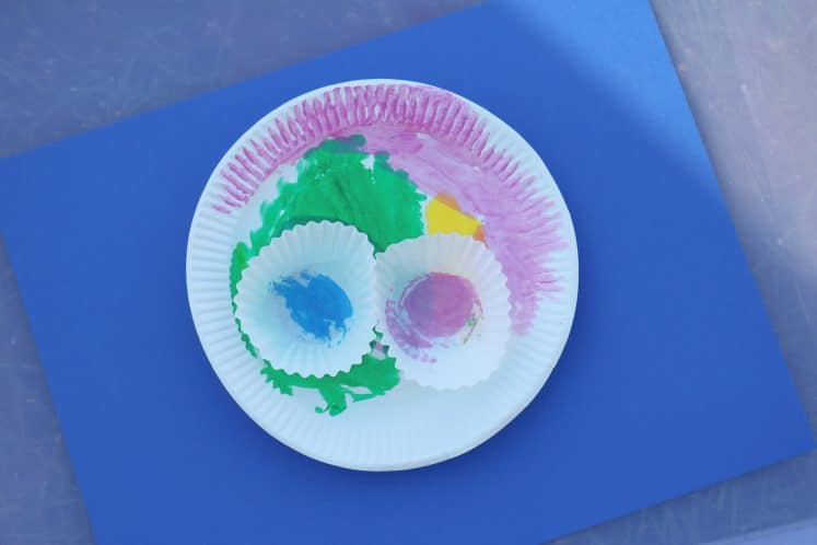 paper plate lotus flower craft