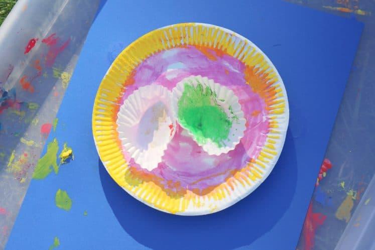 paper plate rainforest craft