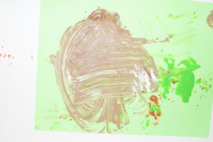 paint swirled on cardstock