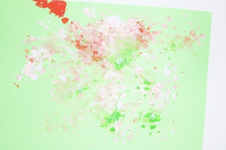 bubble wrap rainforest process art