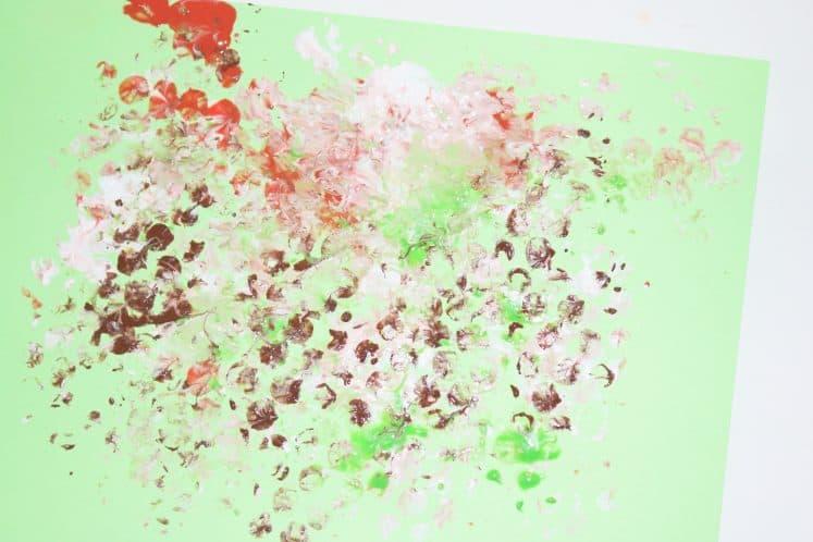 bubble wrap pattern on cardstock