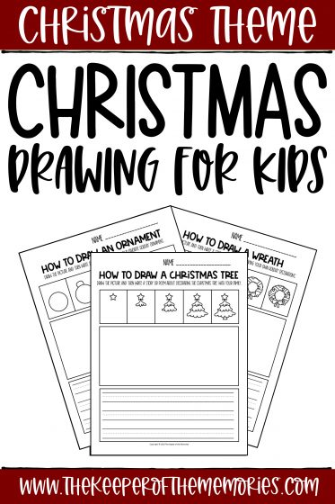 Christmas How to Draw Worksheets with text: Christmas Theme Christmas Drawing for Kids