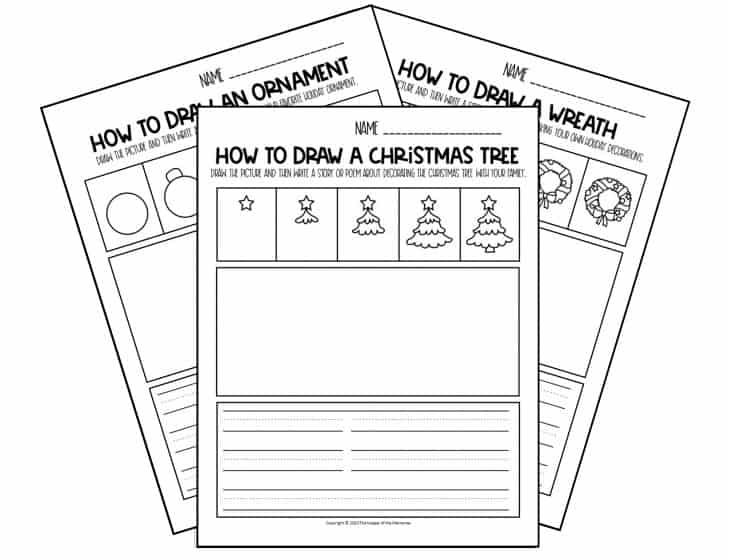 Christmas Drawing for Kids Worksheets