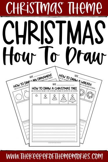 Christmas Drawing for Kids Worksheets with text: Christmas Theme Christmas How to Draw