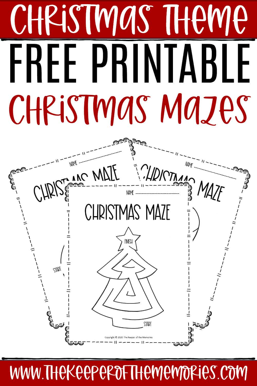 Free Printable Christmas Mazes