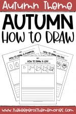 Fall Drawing for Kids