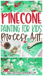 Pinecone Painting for Kids