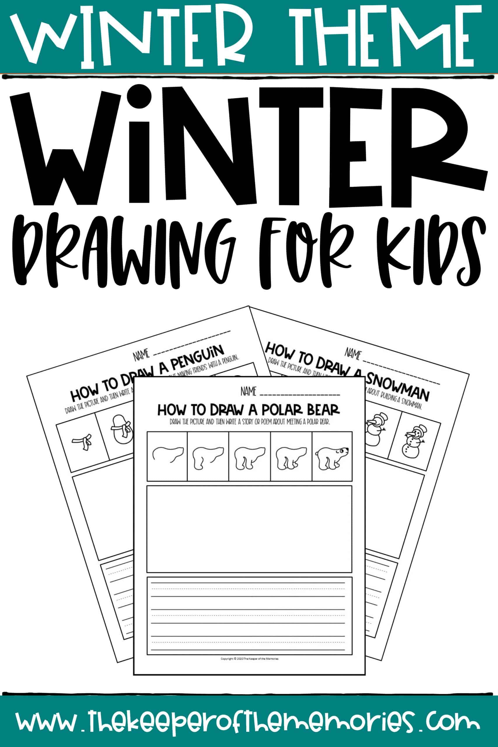 Winter Drawing for Kids