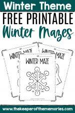Free Printable Winter Mazes