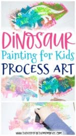 Dinosaur Painting for Kids Process Art Activity