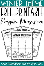 Free Printable Comparing Penguins Winter Preschool Worksheets