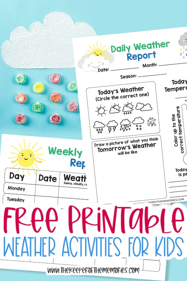 Free Printable Weather Activities for Kids