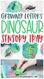Growing Letters Dinosaur Sensory Tray