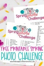 Free Printable Spring Scrapbooking Ideas Photo Challenge