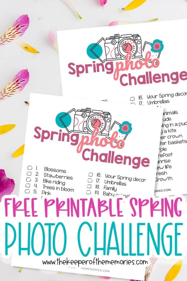 Free Printable Spring Scrapbooking Ideas Photo Challenge