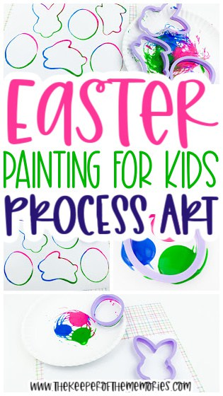 collage of Easter Painting for Kids images with text: Easter Painting for Kids Process Art