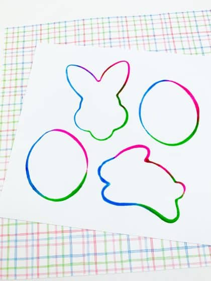 Easter Painting for Kids using cookie cutters and paint