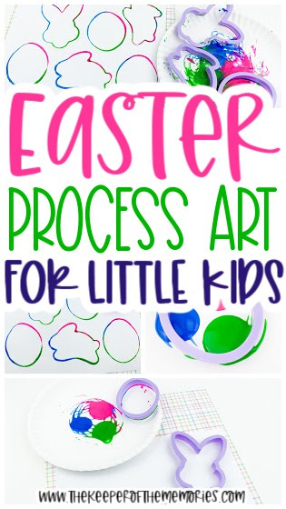 collage of Easter Painting for Kids images with text: Easter Process Art for Little Kids