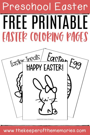 Easter Coloring Pages with text: Preschool Easter Easter Free Printable Easter Coloring Pages