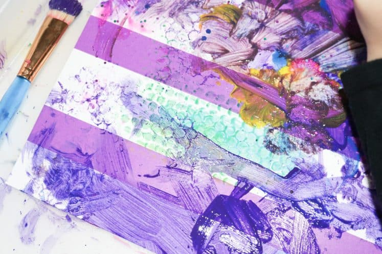 rug painting for kids process art
