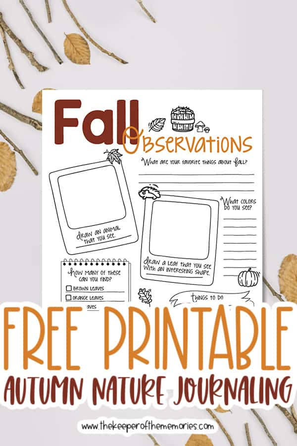 Free Printable Fall Nature Journaling for Kids