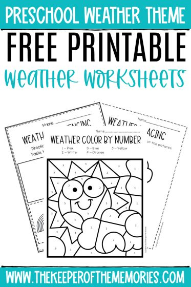preschool weather worksheets with text: Preschool Weather Theme Free Printable Weather Worksheets