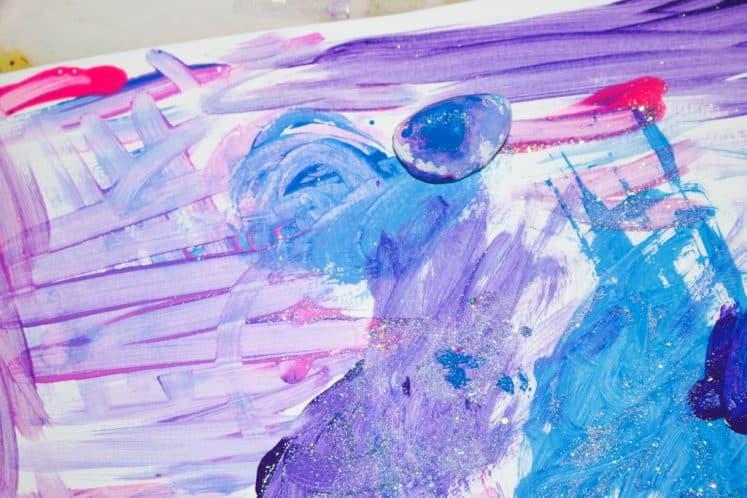 galaxy process art on white cardstock
