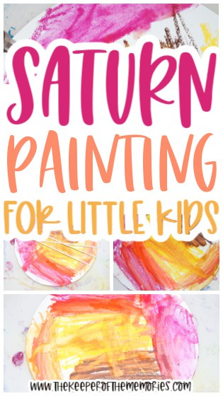 Saturn Painting for Kids