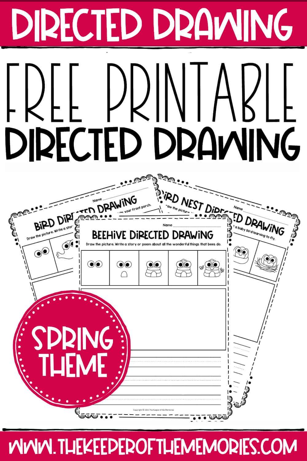 Free Printable Spring Directed Drawing