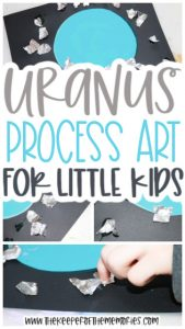 collage of Uranus Process Art images with text: Uranus Process for Little Kids