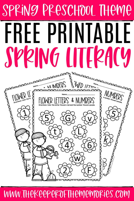 Free Printable Literacy Spring Preschool Worksheets