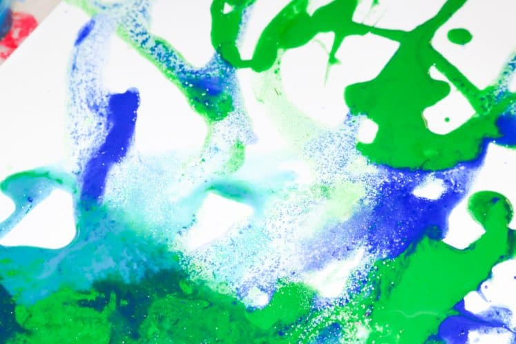 child's ocean salt painting