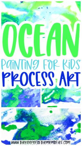 Ocean Salt Painting for Kids